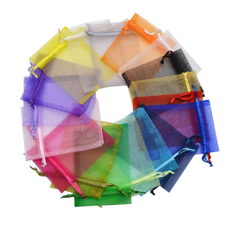 20pcs 7x9 9x12 11x16 13x18CM Organza Bags Jewelry Packaging Bags Wedding Party Decoration Drawable Bags Gift Pouches20pcs 7x9 9x12 11x16 13x18CM Organza Bags Jewelry Packaging Bags Wedding Party Decoration Drawable Bags Gift Pouches