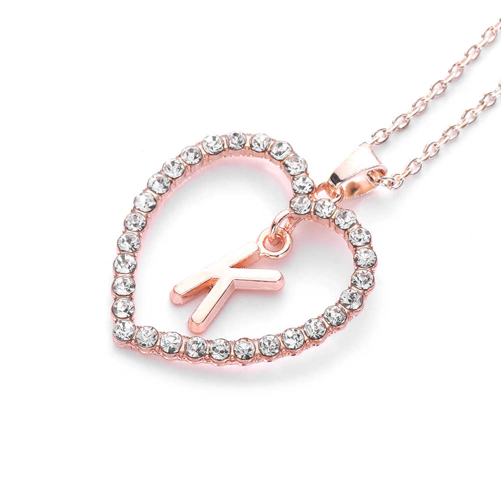 Letter Z Necklace ALP ... A To Z Letter Name Necklaces & Pendant For Women Girl Fashion Long  Chain Heart Necklaces ...