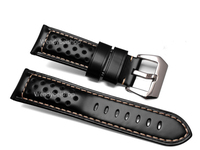 22 24 26mm Wholesale Men Women Black Brown Real Leather Handmade Thick VINTAGE Wrist Watch Band