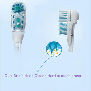 4pcs For Oral B Electric Toothbrush Replacement Head 4732 3733 Dual Clean Dual Brush Head Cleans Hard-To-Reach Area Model 4734