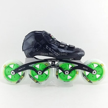 South Korea CR carbon saints speed skating shoes racing shoes adult skates skates shoes with G13 4*90mm4*100mm 4*110mm
