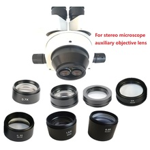 0.5X 1X 0.7X 1.5X 2.0X Barlow Auxiliary Objective Lens for Stereo Microscope trinocular / binocular with high distance working цена