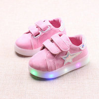 Kids shoes with light 2017 New Spring Printed Children Luminous Sneakers Baby girls Sports Shoes for boys Size 21~30