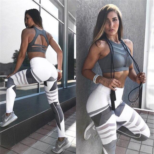 High Elastic Printing Women Fitness Leggings Push Up Pants 2