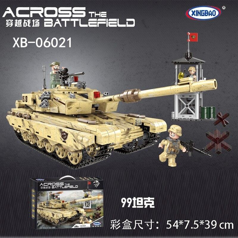 Xingbao XB-06021 Across the Battlefield Type99 main battle tank Military Building Blocks Bricks Compatible legoset Model T цены