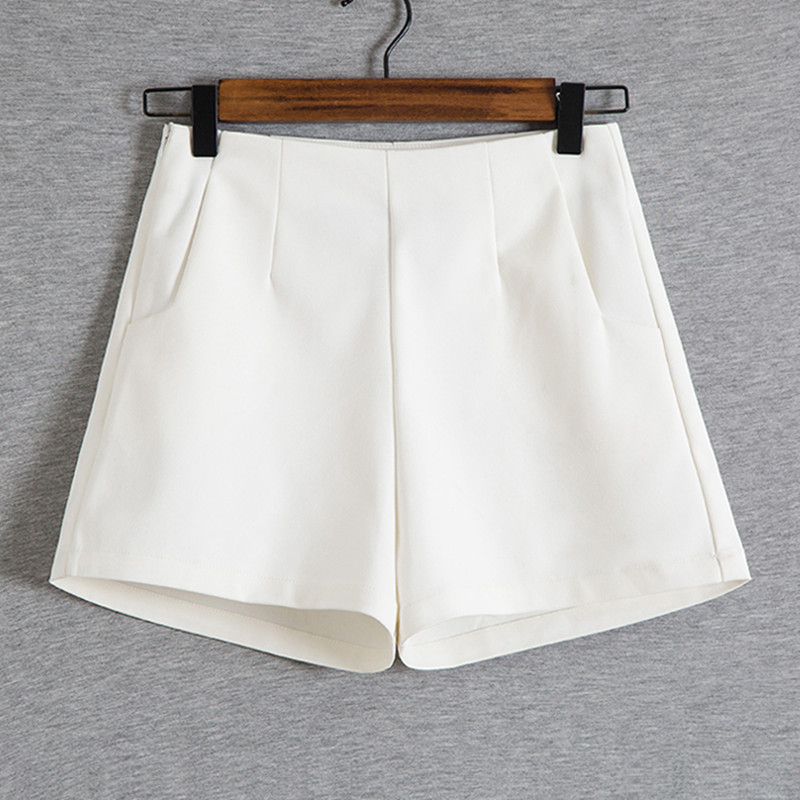 New Summer High Waist Shorts Women Fashion Pocket Stretch Short Femme Casual Wide Legs Shorts Female Plus Size 3XL C2978