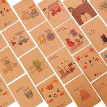 40 шт./лот, маленький блокнот с милым мультипликационным принтом, бумажный дневник, записная книжка 64 K, канцелярские принадлежности, подарки для детей