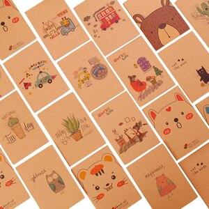 Image 1 - 40 шт./лот, маленький блокнот с милым мультипликационным принтом, бумажный дневник, записная книжка 64 K, канцелярские принадлежности, подарки для детей