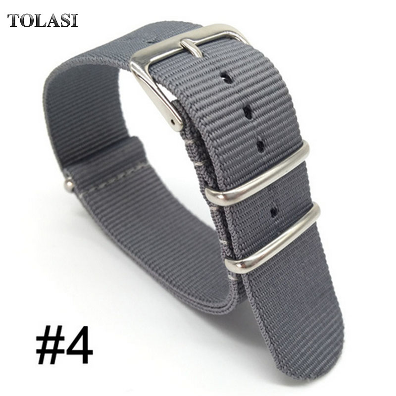 18mm 24mm 20mm Watch Band Strap Nylon Mesh Watchbands Women Men Sport Watches Belt Accessories Relojes Hombre 2017 22mm gray eache silicone watch band strap replacement watch band can fit for swatch 17mm 19mm men women