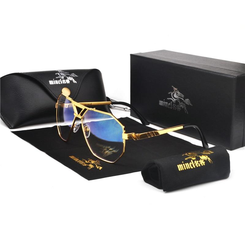 MINCL/New Style 2019 Luxury Brand Designer Sunglasses Men Vintage Oversized Glasses Man NX 3