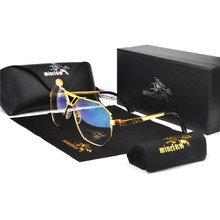 Gold Trim Tinted Sunglasses For Men and Women