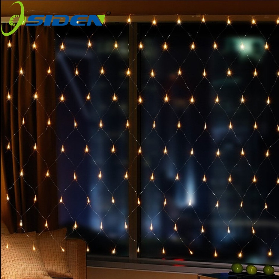 OSIDEN LED Christmas Light Net 1.5MX1.5M 3X2m 4.2X1.6M Fairy Strings Holiday Wedding Party Decoration Outdoor Led Strings Lights