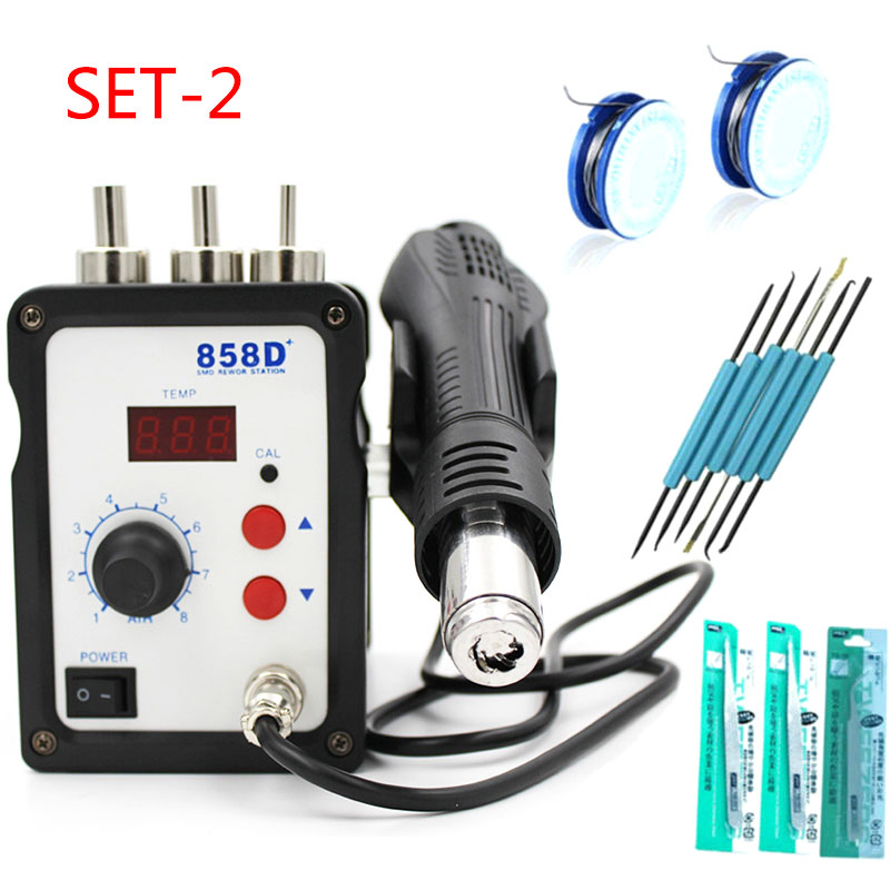 Image 3 - 858D+ 220V Hot Air Gun 700W ESD Soldering Station LED Digital Heat Gun Desoldering Solder Station Upgrade From 858D Air Nozzles-in Heat Guns from Tools on