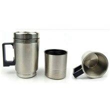 Нержавеющая сталь 12 В кружка для путешествий 300 мл чайник термос Авто адаптер термосы вода Чай Кофе Молоко Бутылка с зарядкой