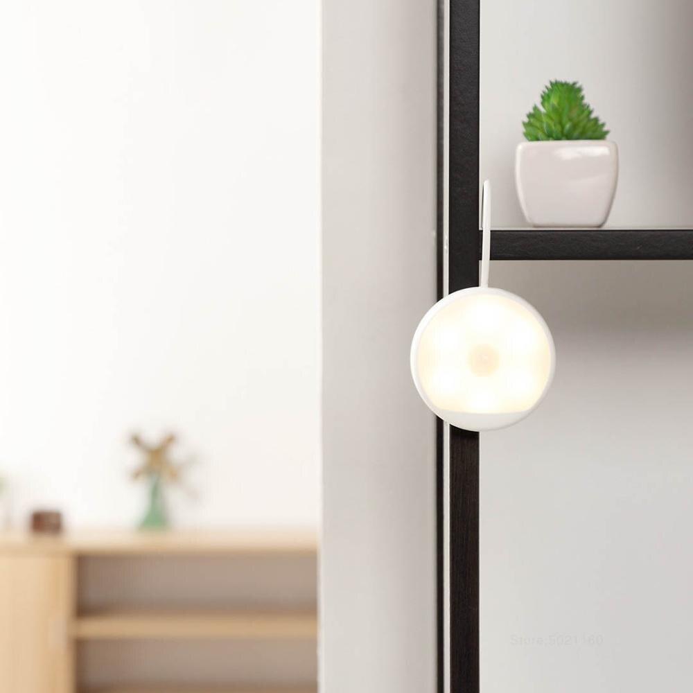 XIAOMI MIJIA LED Night Light Yeelight charging Infrared Motion sensor lamp children corridor Toilet Induction Wall light Indoor (Warm White)