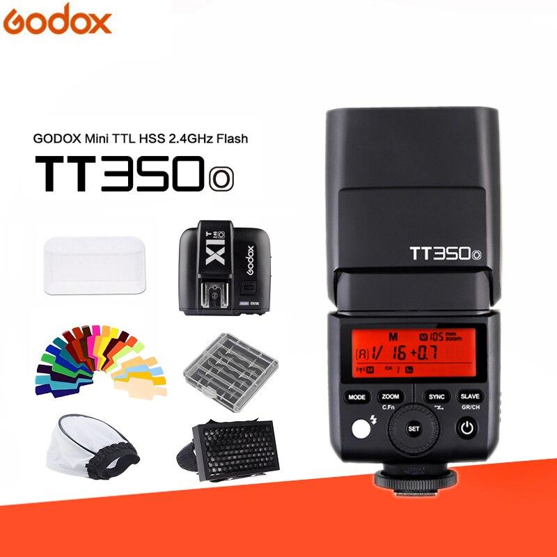 GODOX TT350 TT350O MINI Flash Speedlite TTL 2.4g HSS GN36 1/8000 s + X1T-O Déclencheur Flash pour olympus/Panasonic DSLR Caméra