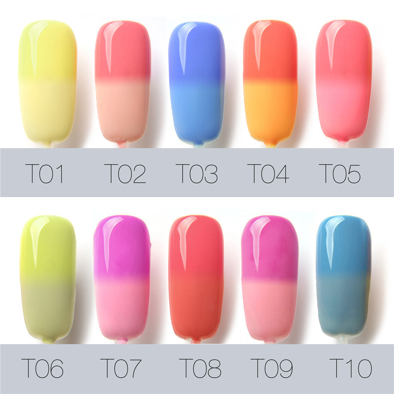 FOCALLURE Brand Bling Nail Polish Gradient Change Colors UV Gel Hot ...