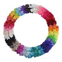3 Inches 45pcs Pack Mix Color Boutique Baby Children Bows Aligator Clip Kids Ribbon Bowknot