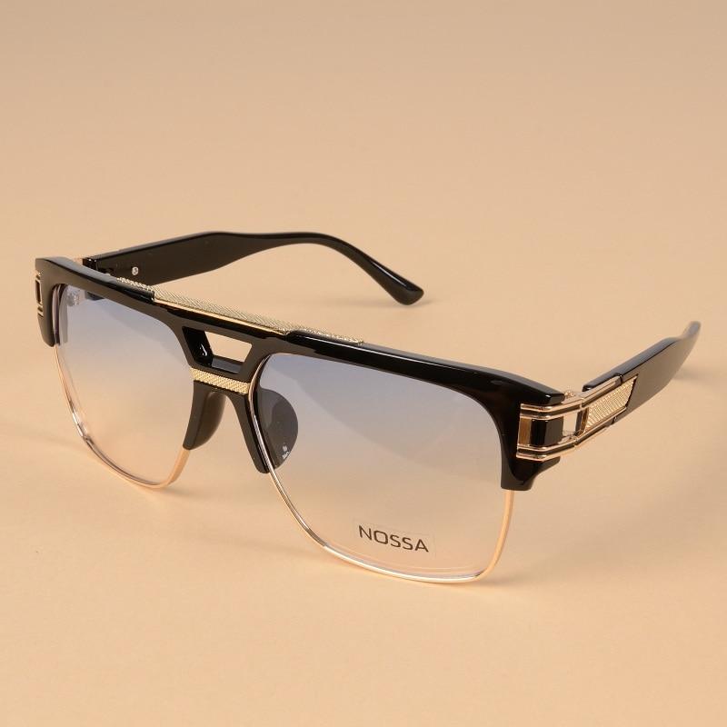 2017 Personality Alloy Eyeglasses Frames Women Men Cool Optical Glasses Big Frame Clear Lens Eyewear Original Design Spectacles