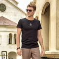 Azel Daily Casual Plain Blank T Shirts Men O Neck Short Sleeve Slim Fit Tops Solid Color Short Sleeve Mens Clothes 2017 Summer
