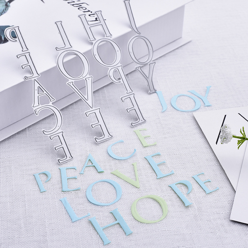 Common Used Words Metal Cutting Dies Stencils for DIY Scrapbooking Photo Album Decorative Embossing Paper Card Making Craft