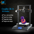 Voorverkoop CR-X 3D Printer DIY KIT 4.3 Touch Screen Dual-kleur Nozzle Grote printer size Dual Fan Creality 3D CR-X n 2 kg filament