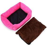 Soft Washable Fruit Color Pet Dog Cat Bed House Nest Pad With Removable Cushion