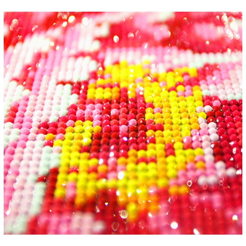 Image 2 - Hot Diy Diamond Painting Cross Stitch Pink Rose With Water Drops Pattern Embroidery-in Painting & Calligraphy from Home & Garden