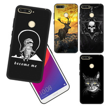 Balck soft silicon For Huawei honor 7A pro y6 prime2018 Cool print 7c5.7 Phone Case cover case