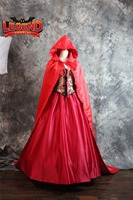 Once Upon a Time Little Red Riding Hood Costume cloak medieval vintage costume dress custom made