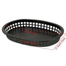 """12pcs/lot 10.5"""" Large Fast Food Platter Basket Red Plastic Dinner Plates"""
