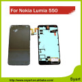 For Lumia 550 Display assembly For Nokia Lumia 550 LCD Display + Touch Screen with Digitizer Bezel Frame Full Assembly Open Tool