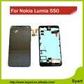 Para display lcd conjunto da tela para nokia lumia 550 lumia 550 + Tela de toque com Digitador Quadro Moldura Assembléia Completa Ferramenta Open