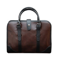 Men Briefcase Crazy Horse Leather Men's Messenger Bags Vintage Laptop HandBags Business Office Travel Bag Leather Laptop Bag
