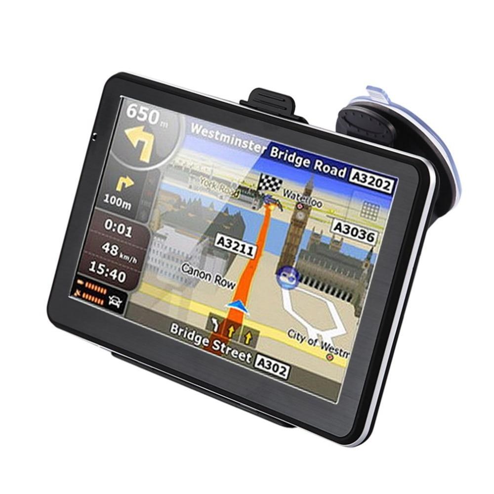 7 дюймов Автомобильный грузовик gps навигация 256 м + 8 Гб емкостный экран FM навигатор камера заднего вида сенсорный датчик точное положение