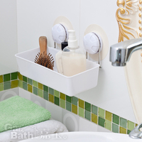 free shipping, high quality multifunctional suction cup shelf storage rack