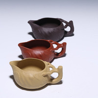 200cc Authentic Purple Clay Tea Sea Handmade Serving Cup Fair Justice Cups Teapot Points Ware Kung Fu Ceremony Top Quality 200ml