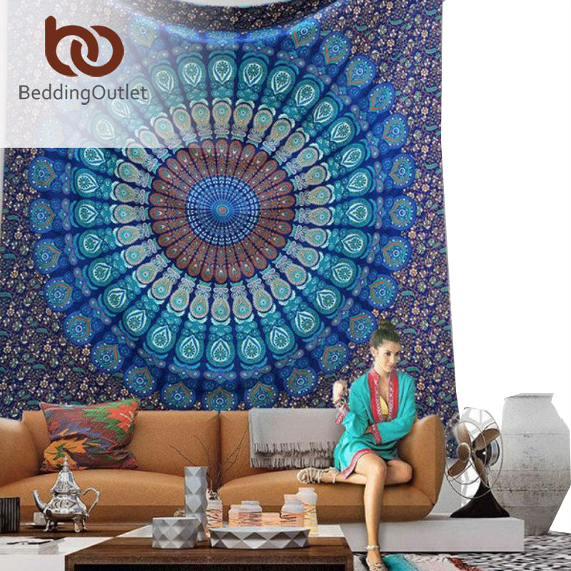 BeddingOutlet Vanitas Mandala Tapestry Moroccan Indian Printed Decorative Wall Tapestries 130cmx150cm 150cmx200cm Drop Shipping