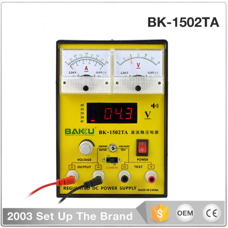 цена на BK-1502TA DC regulated power supply ammeter, digital display 15V 2A adjustable