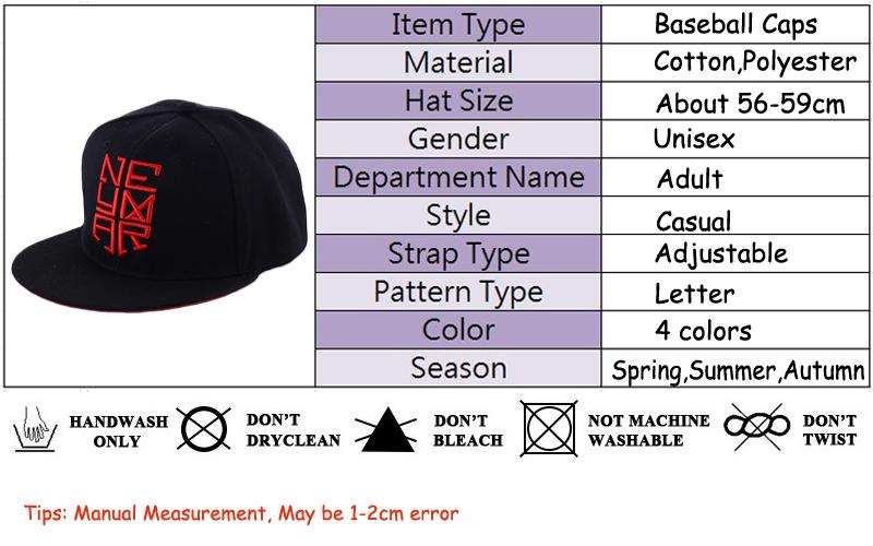 cb225eb30 Neymar Baseball Cap Hip Hop Snapback Hat Men Embroidered Letter Cap njr  Adjustable Cotton Snap Back Flat Hats Gorra Bone MX17234