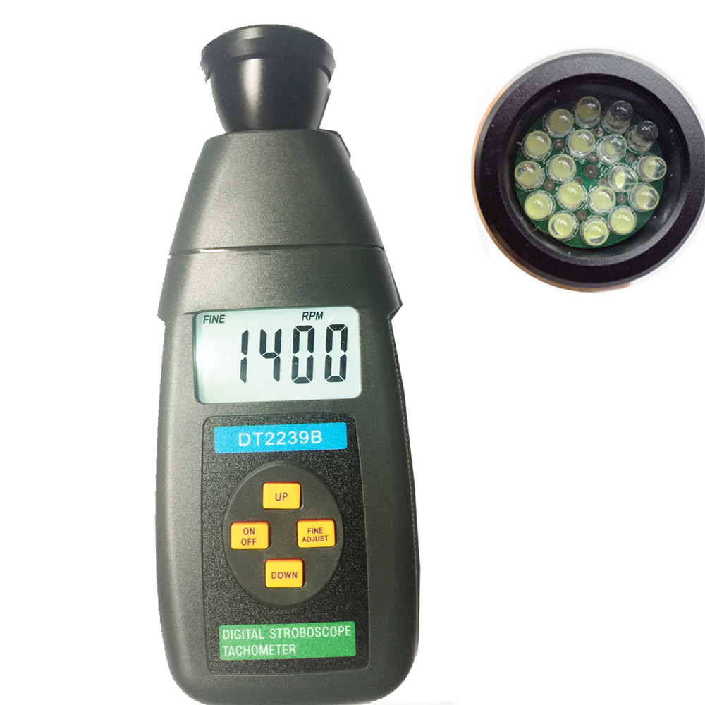 Stroboscope Tachometer tester ,digital stroboscope / speed measuring instruments tool LCD with backlight victor dm6235p digital tachometer