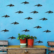 Little Sharks Pattern Wall Decal 30PCS Kids Nursery Stickers Cool Baby Boy Bedroom Dedicated Decals Removable Decor SYY143