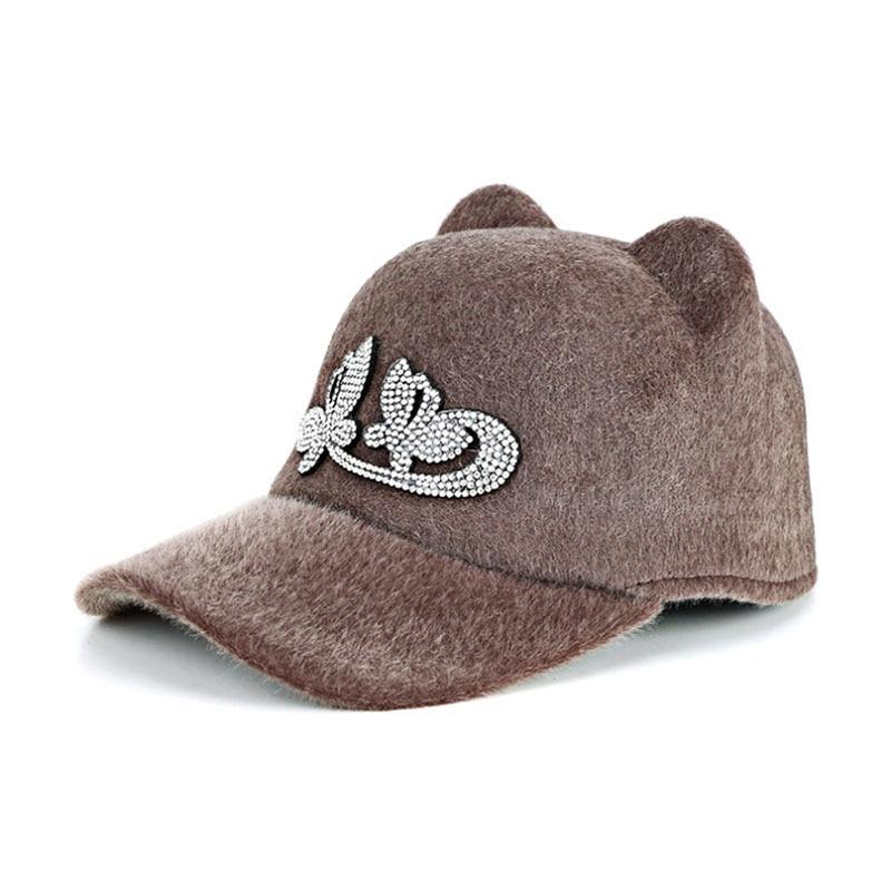 2017 new Autumn Winter Super warmth Keep Warm Snapback Bone Men Women Baseball  Caps Hats Cap Simpl Color Black Grey Woolen-in Baseball Caps from Women s  ... 2da34e1c59d0