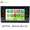MTK MT3360 Wince 6.0 Car DVD Multimedia Player Radio Stereo Screen PC GPS Support 3G WIFI For AUDI A4 S4 RS4 8E 8F B9 B7 RNS-E