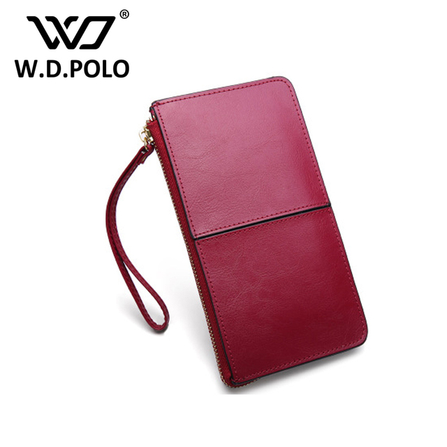 3bef433865 WDPOLO Genuine leather new wallet chic design candy colors women purse women  hand wallet with handles hot selling M1620