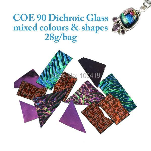 20 bags/lots Multi-Farbe Glas COE 90 Dichroic Glas & mikrowellenofen fusing glas texturierung Dichroic Glas schrott