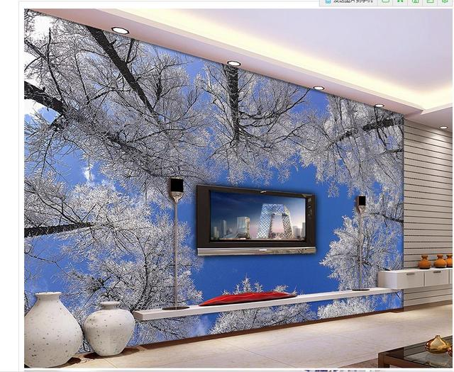 Behang Voor Badkamer : Custom 3d behang natuur woods blauwe hemel achtergrond muur badkamer