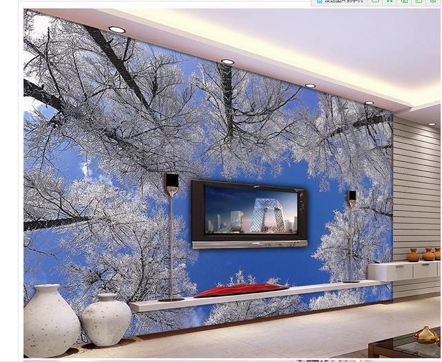Custom 3d Wallpaper Nature Woods Blue Sky Background Wall Bathroom 3d  Wallpaper Photo Wallpaper For Walls