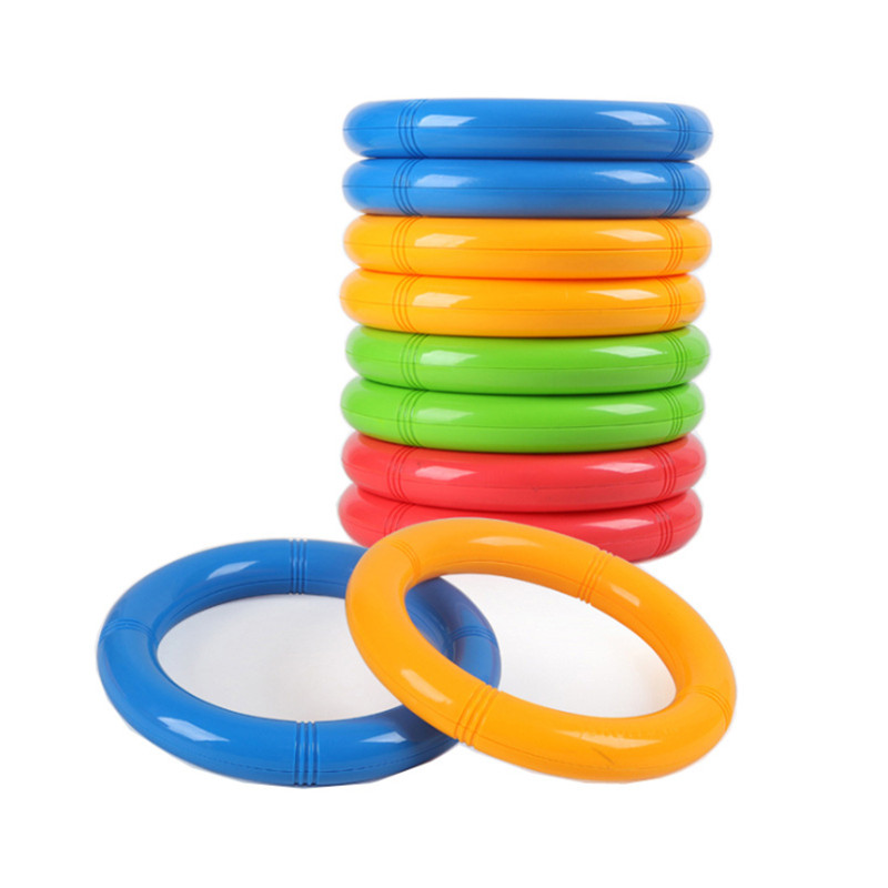 1 Pair=2 Pieces High Quality 19.5cm Plastic Fitness Gymanstic Circle Ring Morning Exericse For Kindegarten Children's Ring