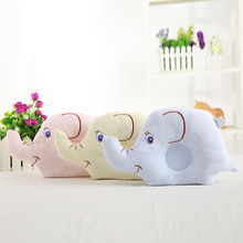 Baby Pillow Diamond Velvet Fabric Soft Thick Comfortable Breathable Perspire Protect The Cervical Cute Elephant Shape